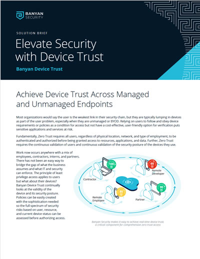 Elevate Security with Device Trust
